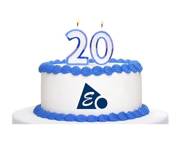 Pastel de nuestro 20 aniversario